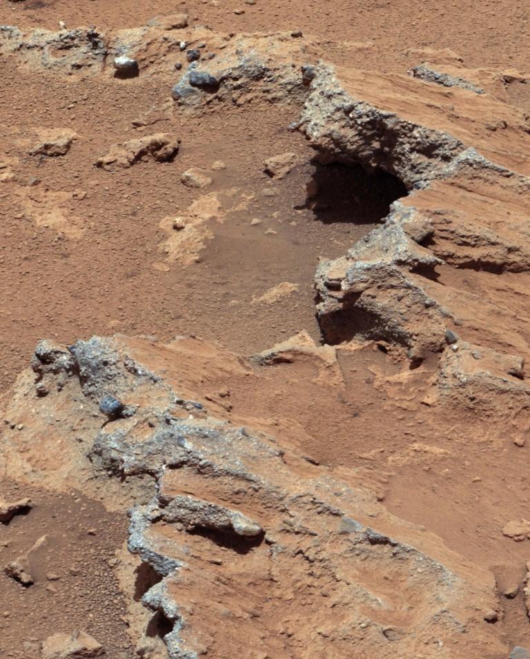 მარსზე არსებული უძველესი მდინარის კალაპოტის ნაშთები